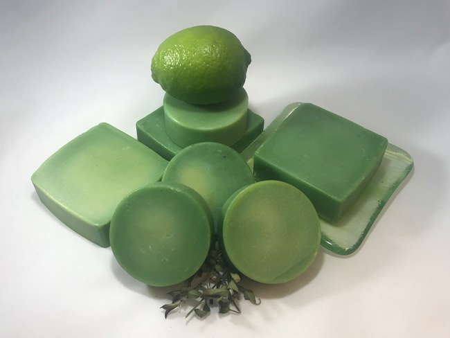 Lime Time Soap - 2.5 Oz Round Bar