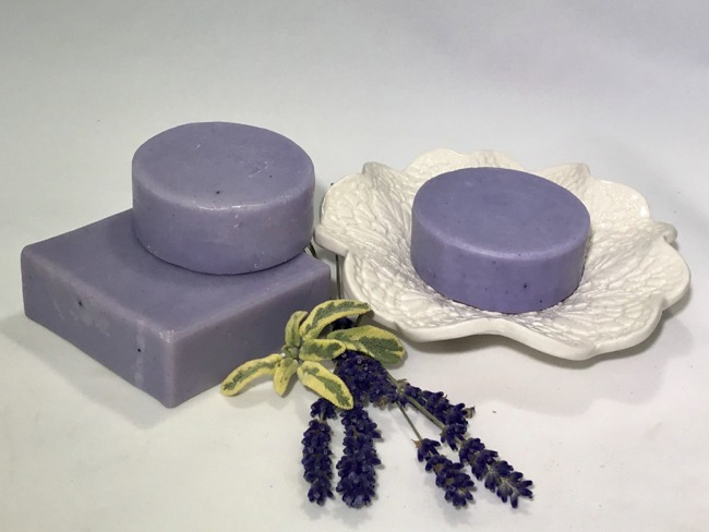 Lavender Sage Soap - 4.0 Oz Square Bar