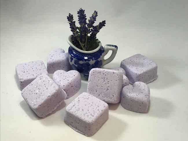 Lavender Meditation Shower Blossoms Pkg. of 4