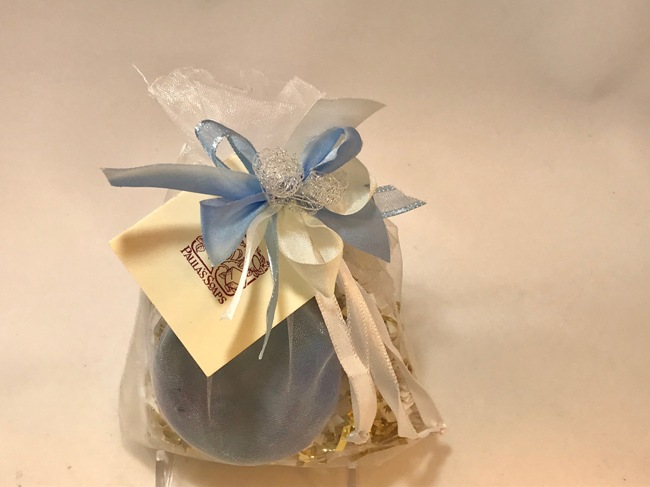 Blue Sacque with Lilac Soap & Bombe