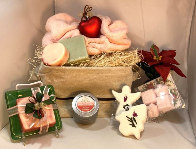 Holiday Basket filled with Cozy Care